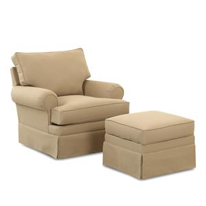 Klaussner Chairs and Accents Carolina Glider Chair and Ottoman