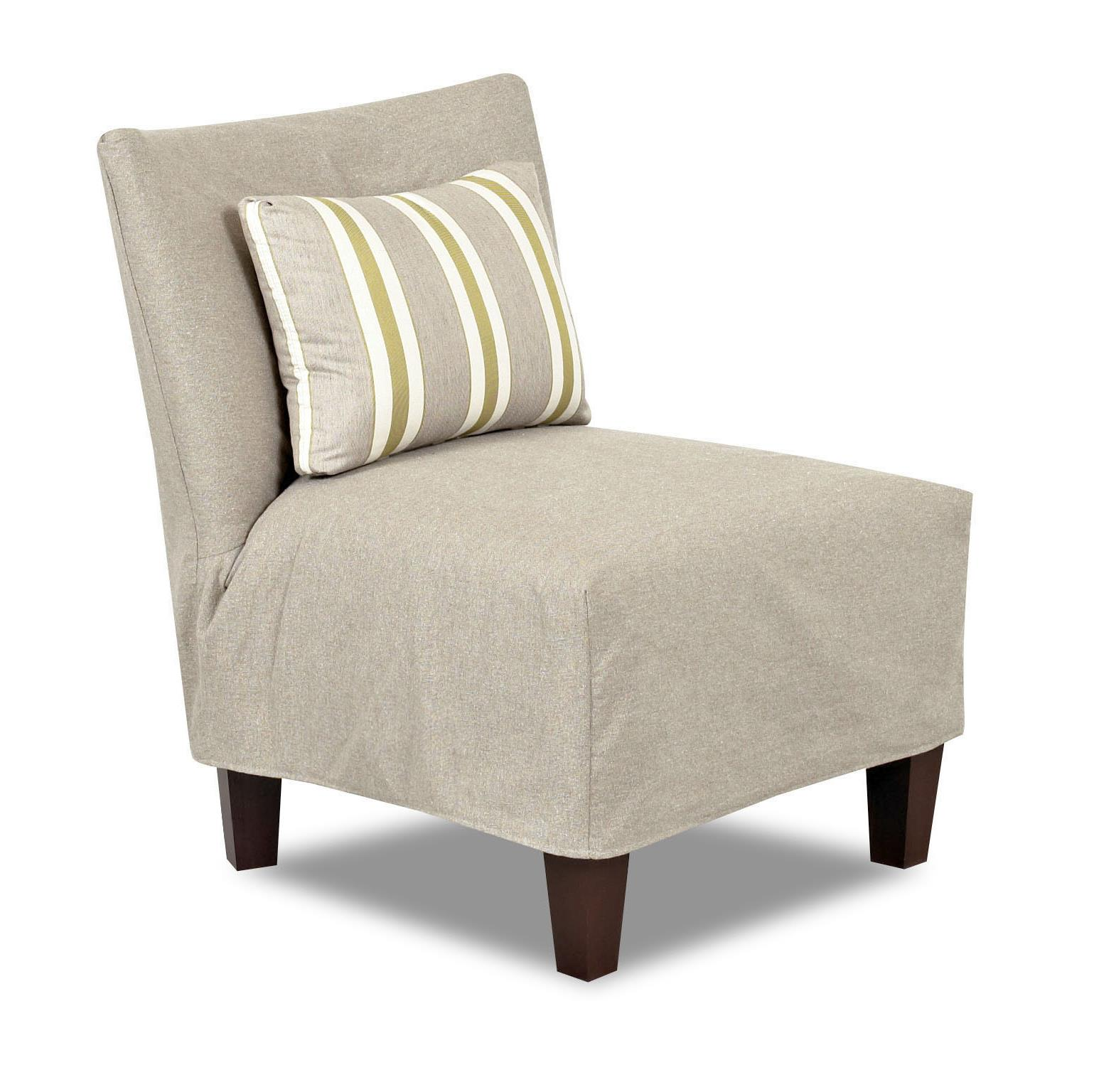 Klaussner Chairs And Accents D48100 Ac Armless Accent Chair With Slipcover Dunk Bright