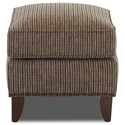 Klaussner Chairs and Accents Lexington Avenue Ottoman with Nailheads - Fabric shown no longer available from manufacturer