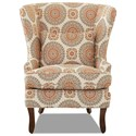 Klaussner Chairs and Accents Krauss Chair (No Nailheads) - Item Number: D9400-Brianne Marmalade