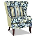 Klaussner Chairs and Accents Transitional Krauss Wing Chair with Nail Head Trim - D9410 C