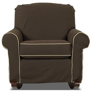 Klaussner Chairs And Accents Old Town Upholstered Rocking Chair With Slip  Cover   AHFA   Upholstered Rocker Dealer Locator