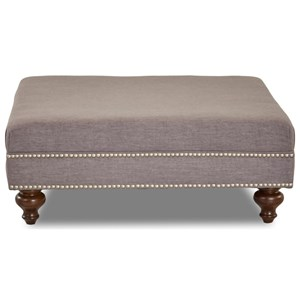 Lyle Ottoman with Nailhead Trim