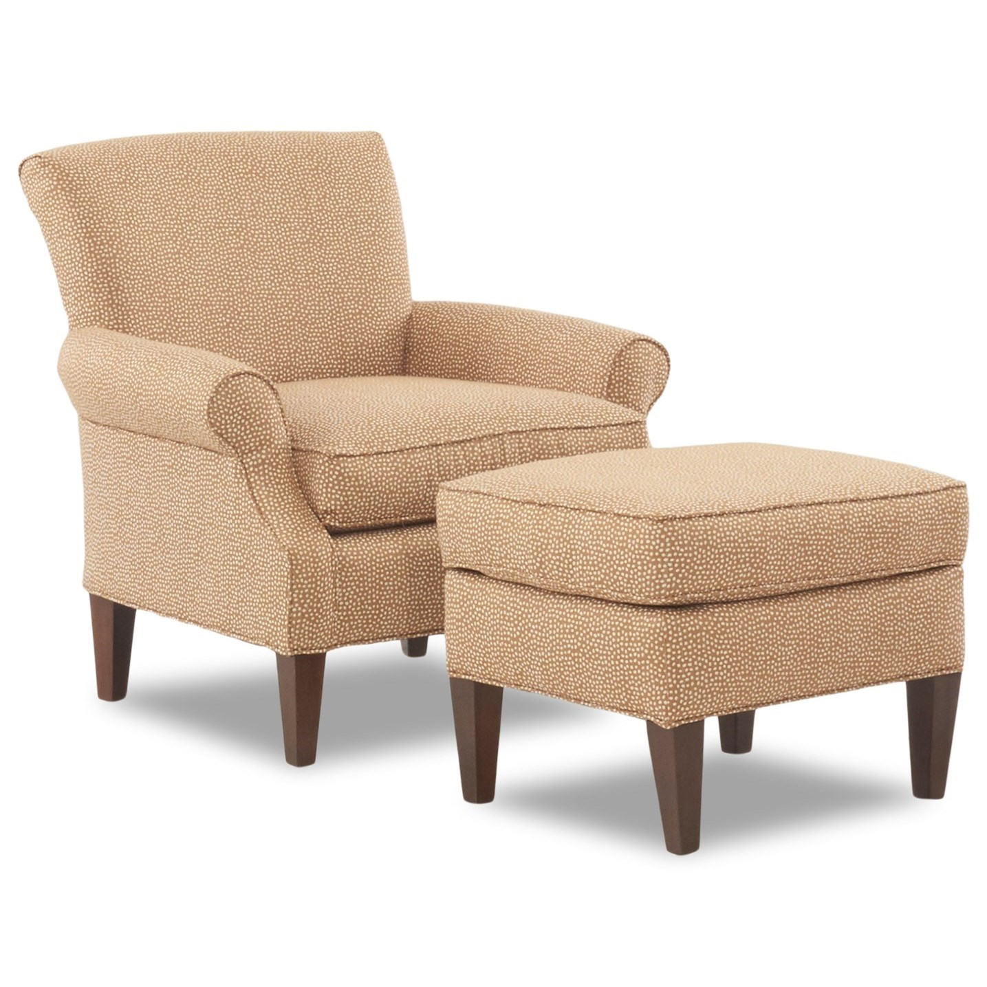 Klaussner Chairs And Accents Chair Ottoman Set Suburban