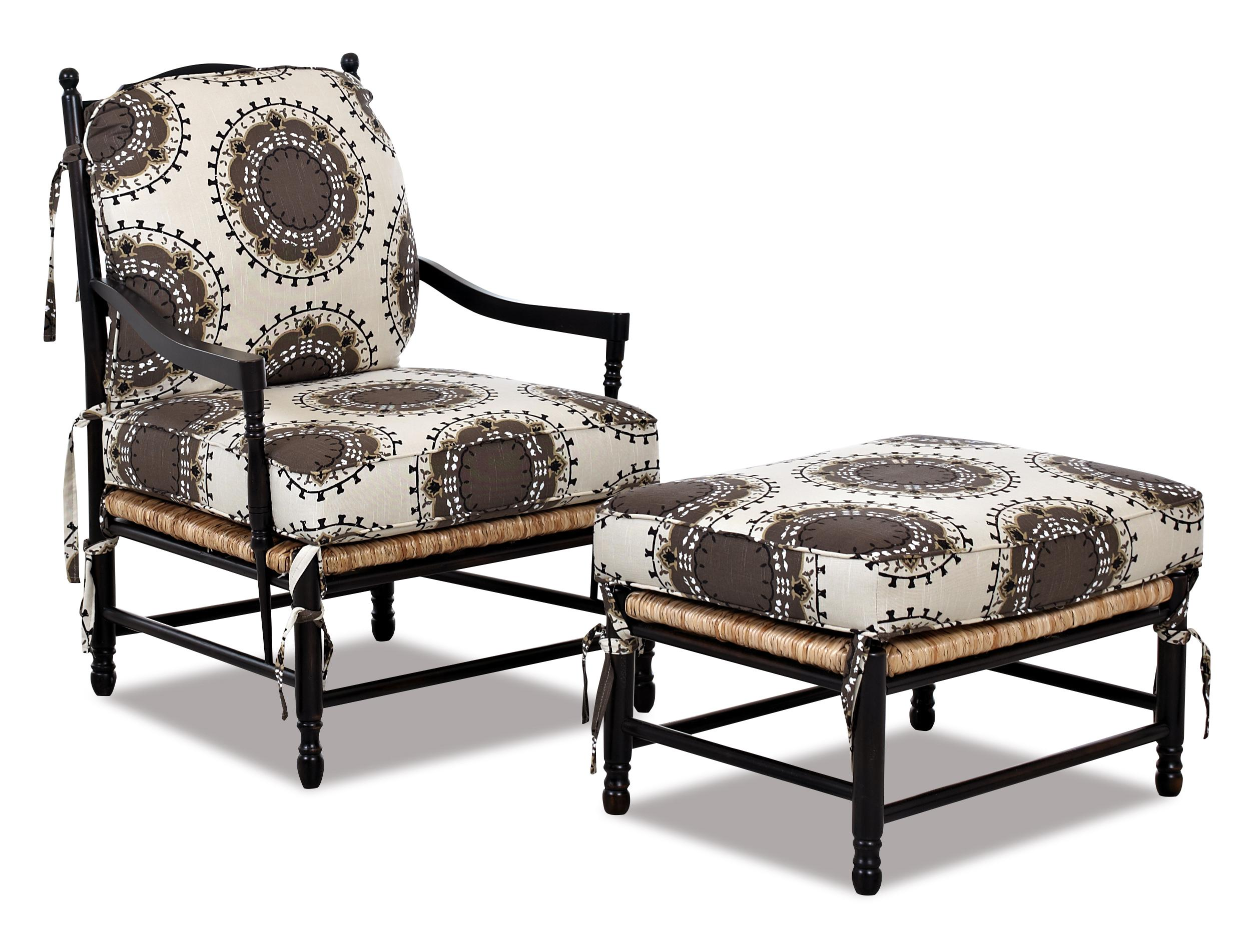 Klaussner Chairs and Accents Verano Occasional Chair and Ottoman Set - Item Number: K300 OC+OTTO
