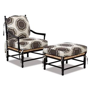 Elliston Place Chairs and Accents Verano Occasional Chair and Ottoman Set