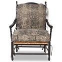 Klaussner Chairs and Accents Homespun Accent Chair and Ottoman Set - Fabric shown no longer available from manufacturer