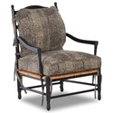 Klaussner Chairs and Accents Homespun Accent Chair with Exposed Wood - Fabric shown no longer available from manufacturer