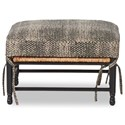 Klaussner Chairs and Accents Homespun Accent Ottoman with Exposed Wood - Fabric shown no longer available from manufacturer