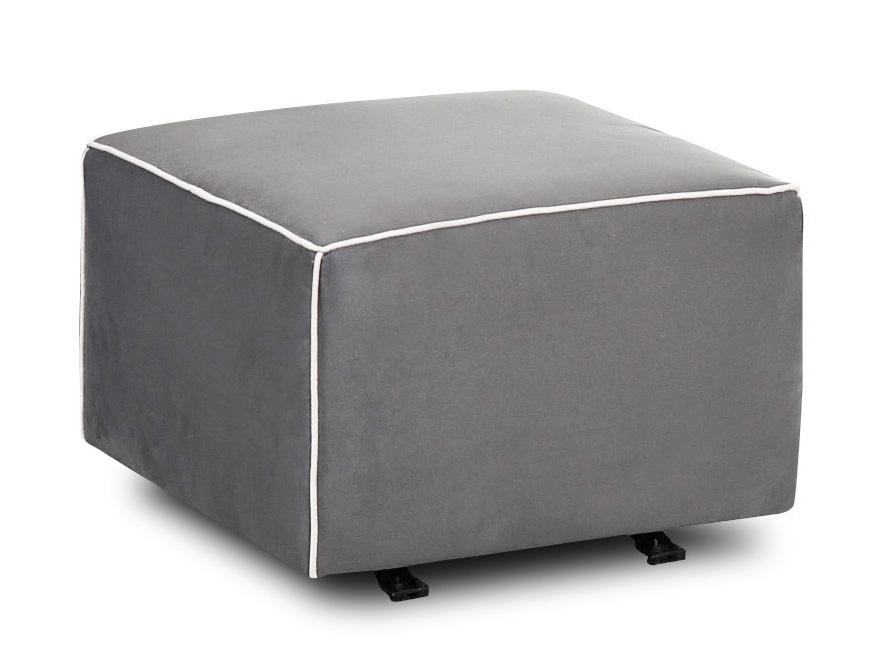 Chairs and Accents Lacey Gliding Ottoman by Klaussner at Johnny Janosik