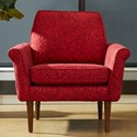 Klaussner Chairs and Accents Knox Chair - Item Number: K3800 OC-TRAY CRIMSON