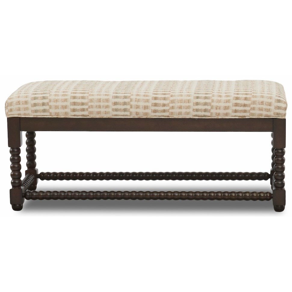 Chairs and Accents Rocco Bench by Klaussner at Johnny Janosik