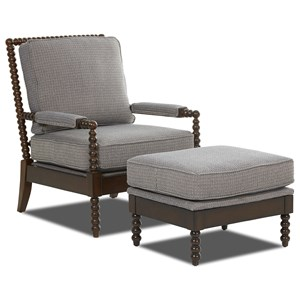 Elliston Place Chairs and Accents Rocco Chair and Ottoman
