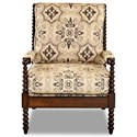 Klaussner Chairs and Accents Rocco Accent Chair - Item Number: K570 OC-Aubusson Charcoal