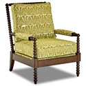 Klaussner Chairs and Accents Rocco Accent Chair with Spool-turned Legs and Arms