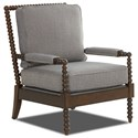 Klaussner Chairs and Accents Rocco Accent Chair with Spool-turned Legs and Arms - K570 OC