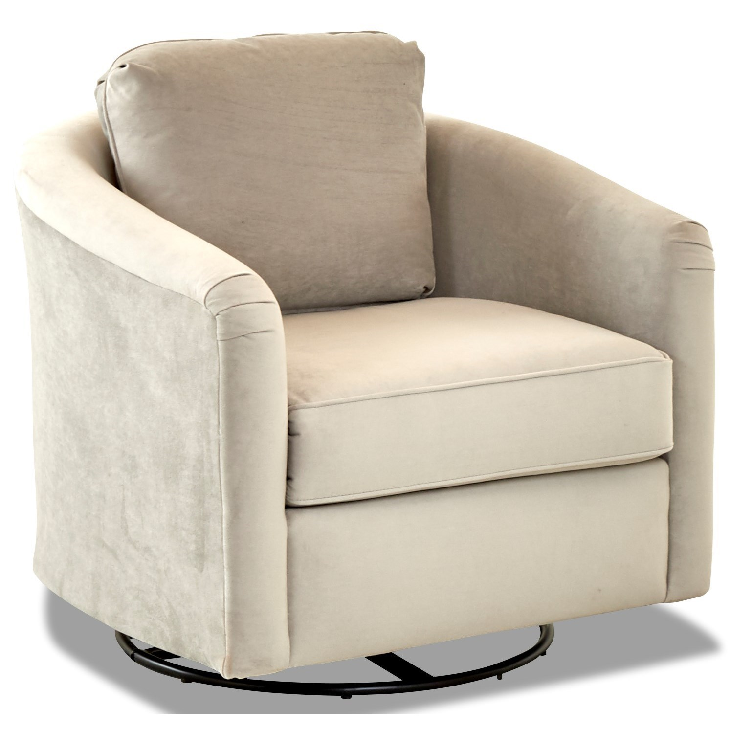 Chairs and Accents Upholstered Swivel Glider by Klaussner at Johnny Janosik