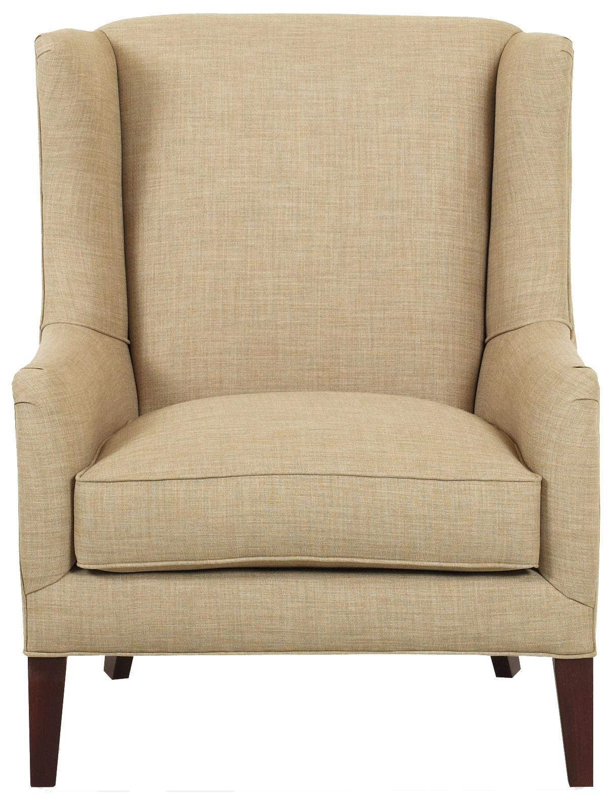 Klaussner Chairs and Accents Upholstered Quinn Chair with Wings - Item Number: K730C