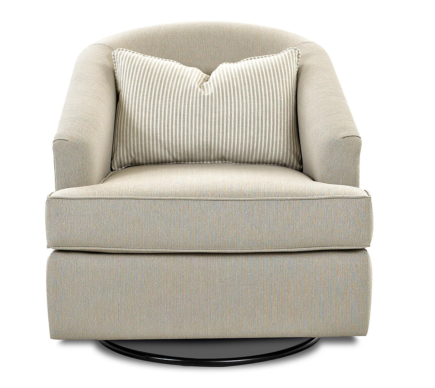 Klaussner Chairs and Accents Devon Swivel Glide Chair - Item Number: K790P SWGL