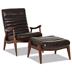 Hans Chair and Ottoman Set