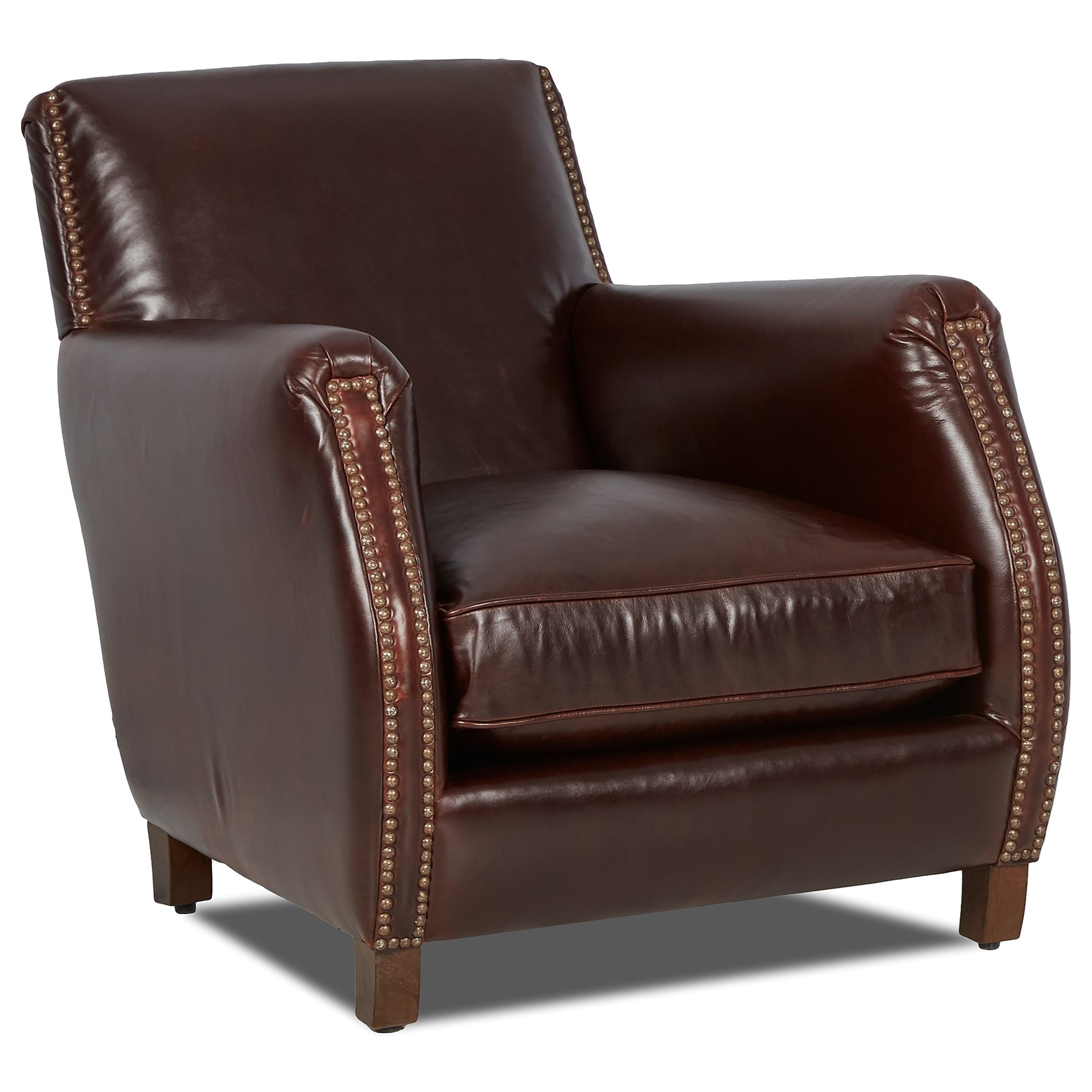 Beau Chairs And Accents Rocket Chair With Nailhead Studs By Klaussner