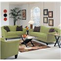 Elliston Place Kris Contemporary Upholstered Stationary Love Seat - Shown with Matching Sofa
