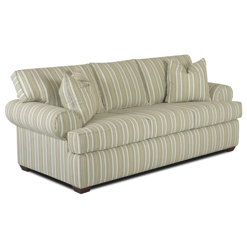Klaussner Lady Sofa With Rolled Arms Johnny Janosik Sofas