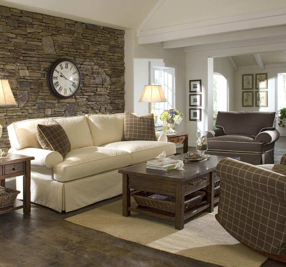 Klaussner Lahoya Sofa With Slipcover And Blend Down
