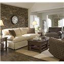 Elliston Place Lahoya Sofa with Slipcover and Blend Down Cushions - Shown with upholstered chair