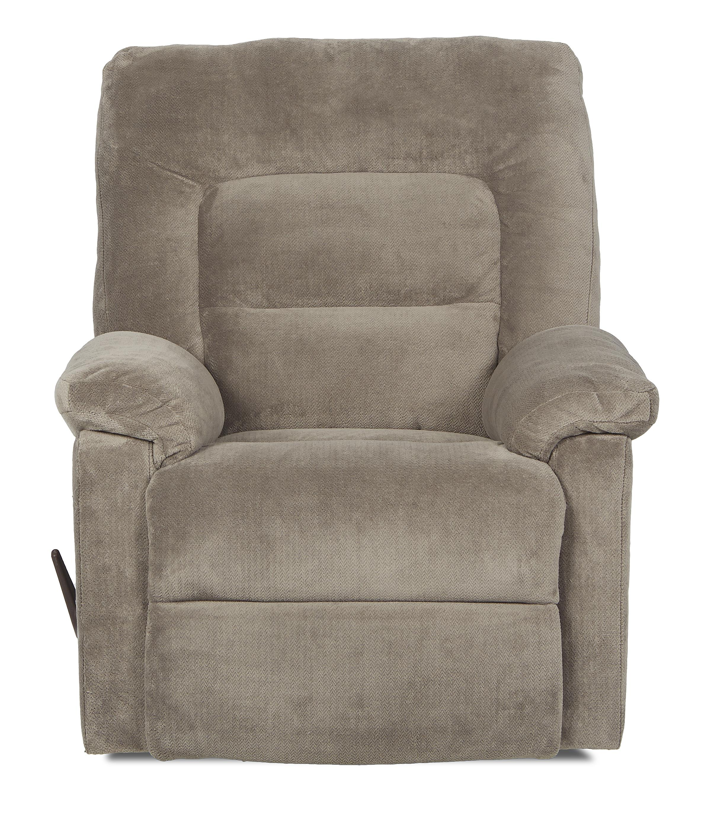 Klaussner Landon Casual Reclining Rocking Chair - Item Number: 86503H RRC-RoxxCobblestone