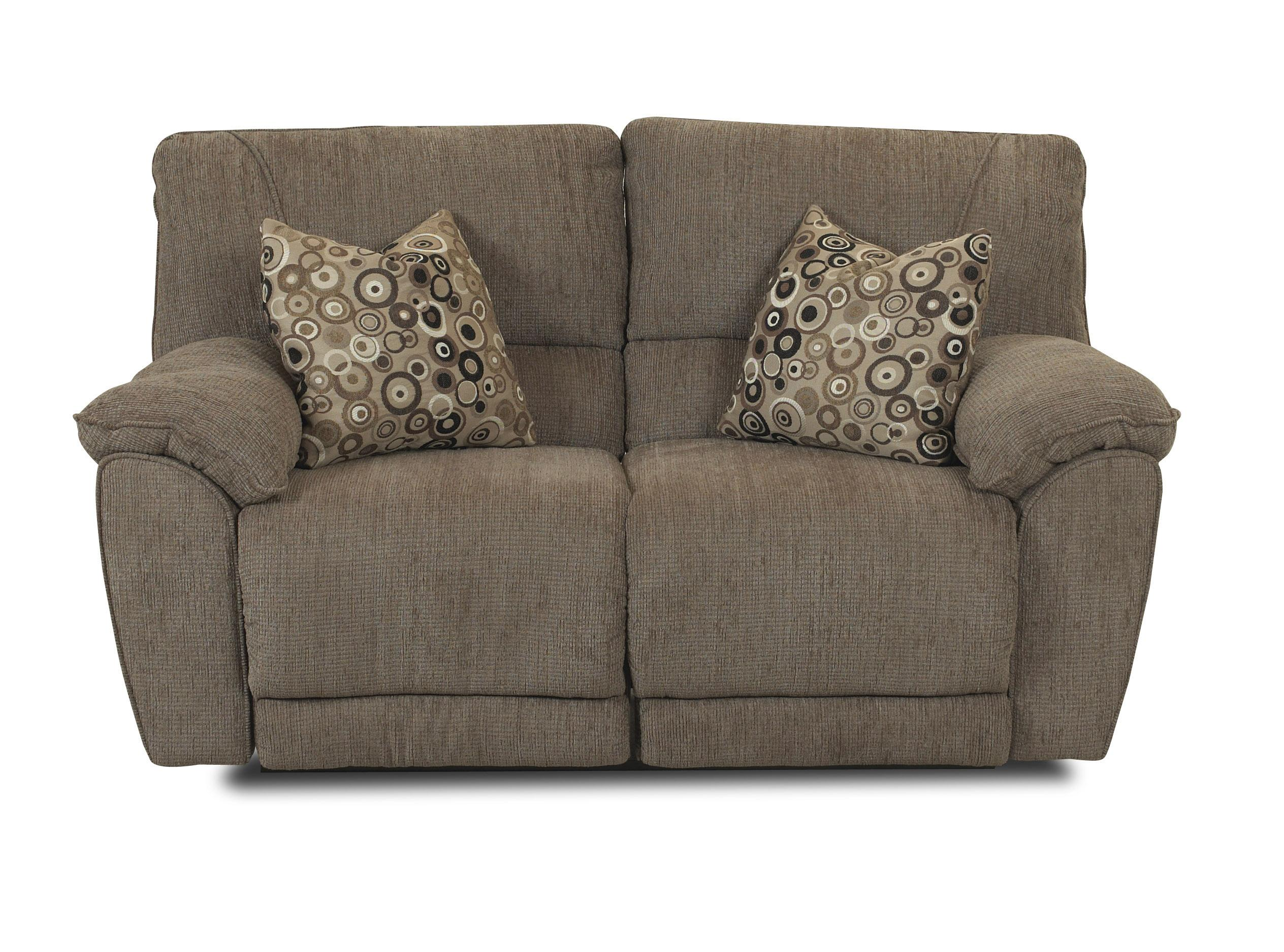 Klaussner Laredo  Power Reclining Loveseat with Pillows - Item Number: 57903P PWRLS