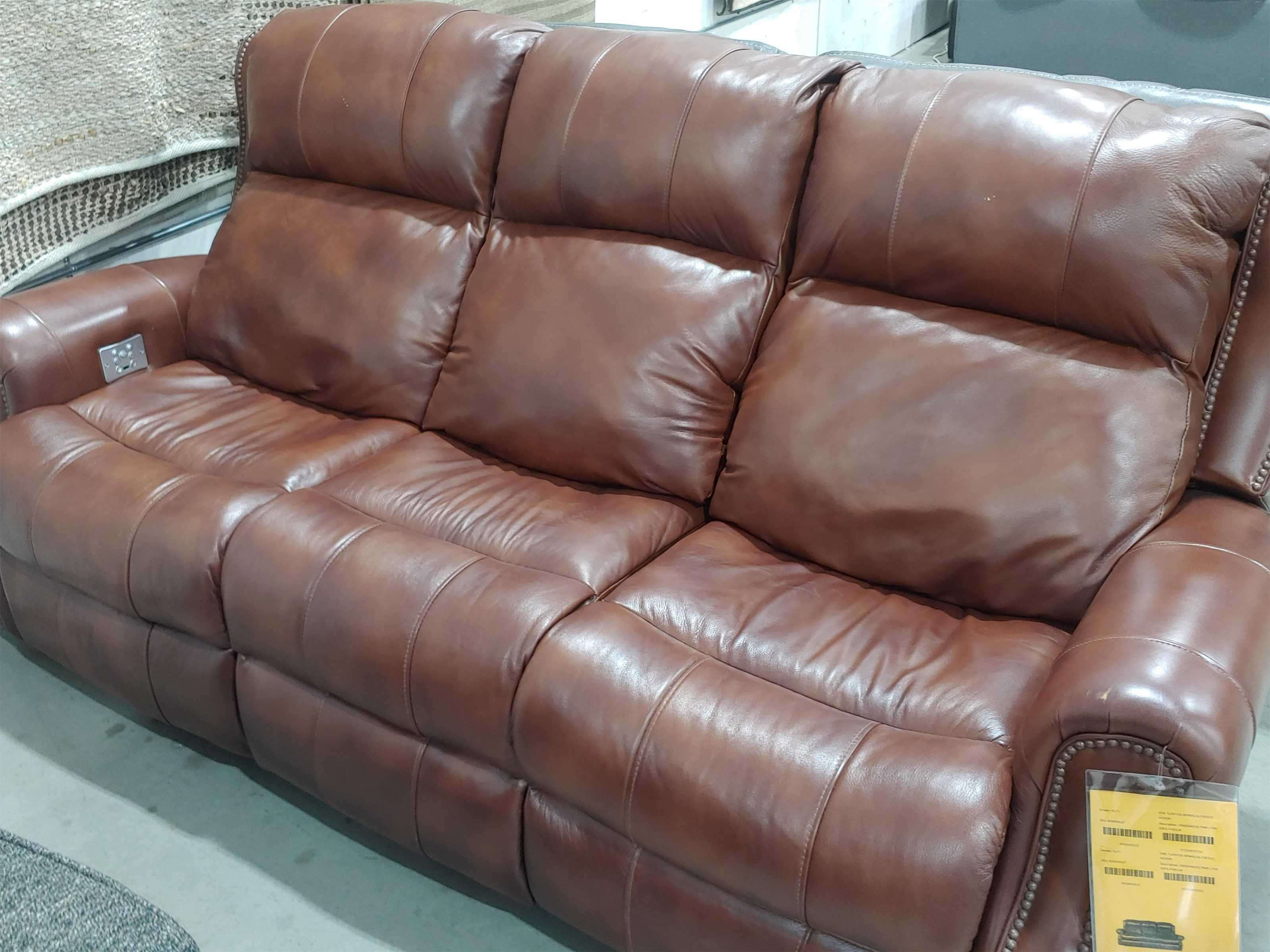 Last One Recliner Last One! Leather Match Power Sofa! by Klaussner at Morris Home