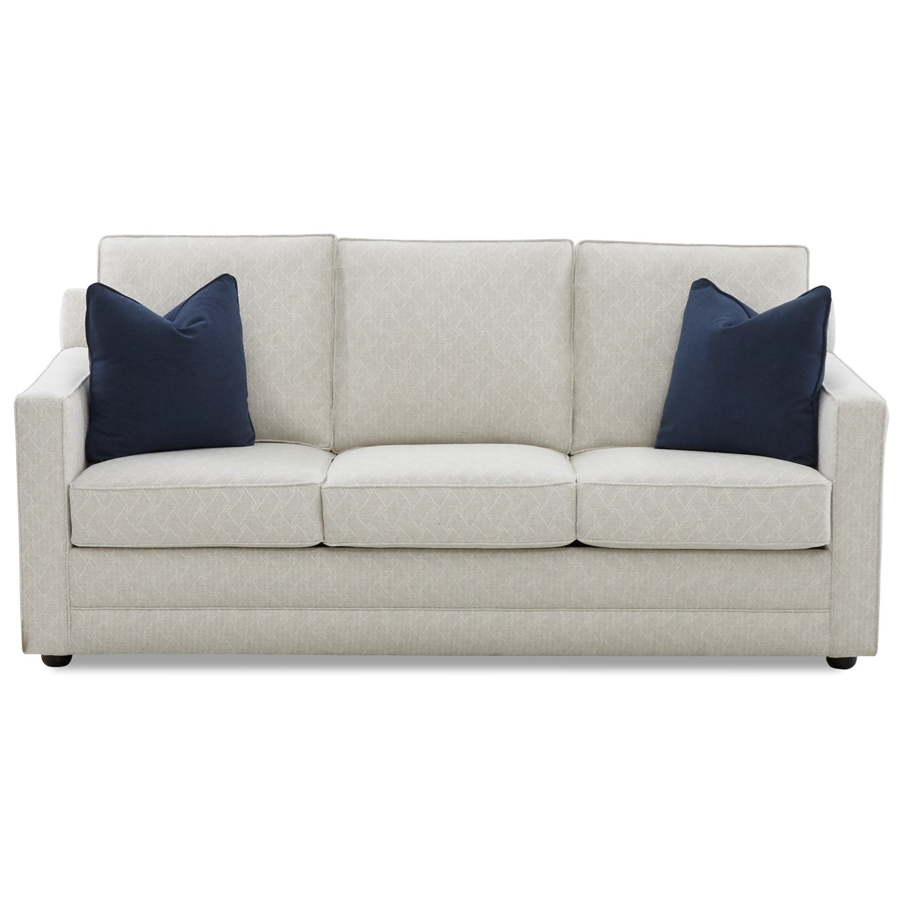 Klaussner Laudholm Contemporary 80 Inch Sleeper Sofa with ...