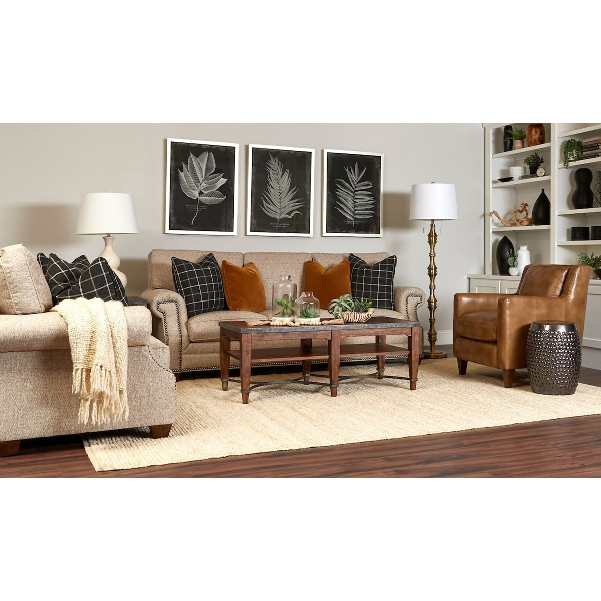 Lawrence Living Room Group by Klaussner at Johnny Janosik