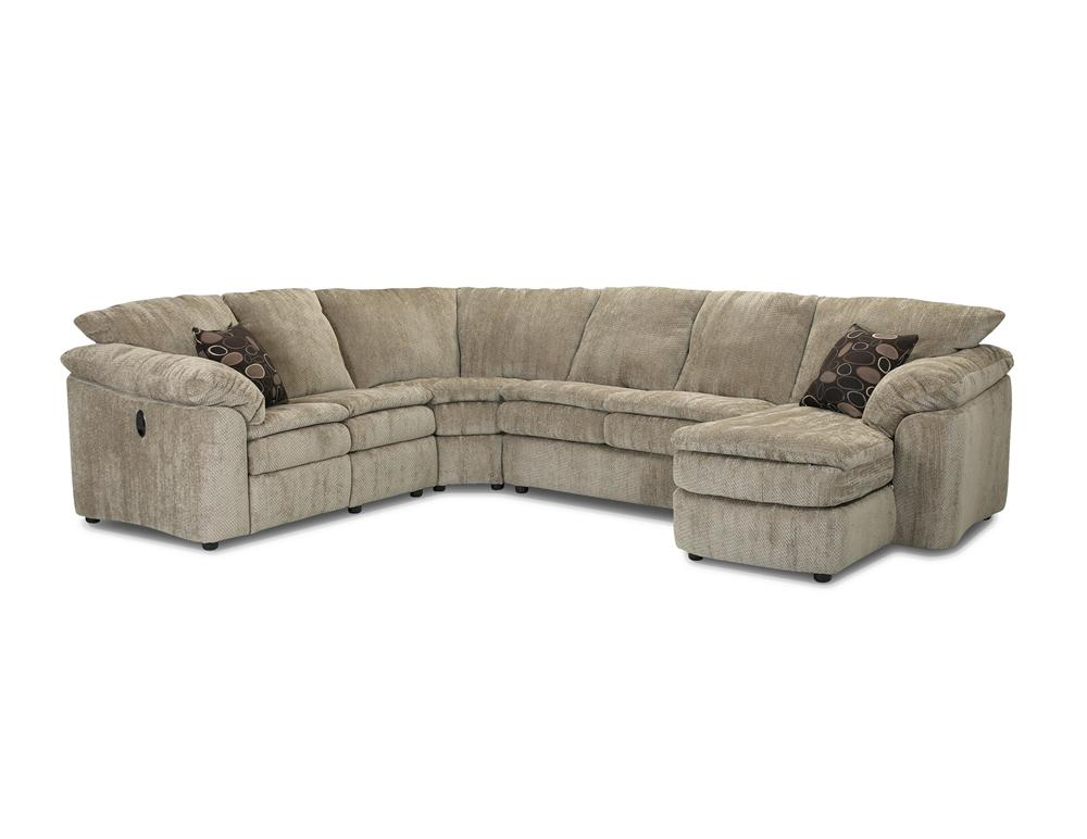 LA Reclining Loveseat and Chaise Sectional