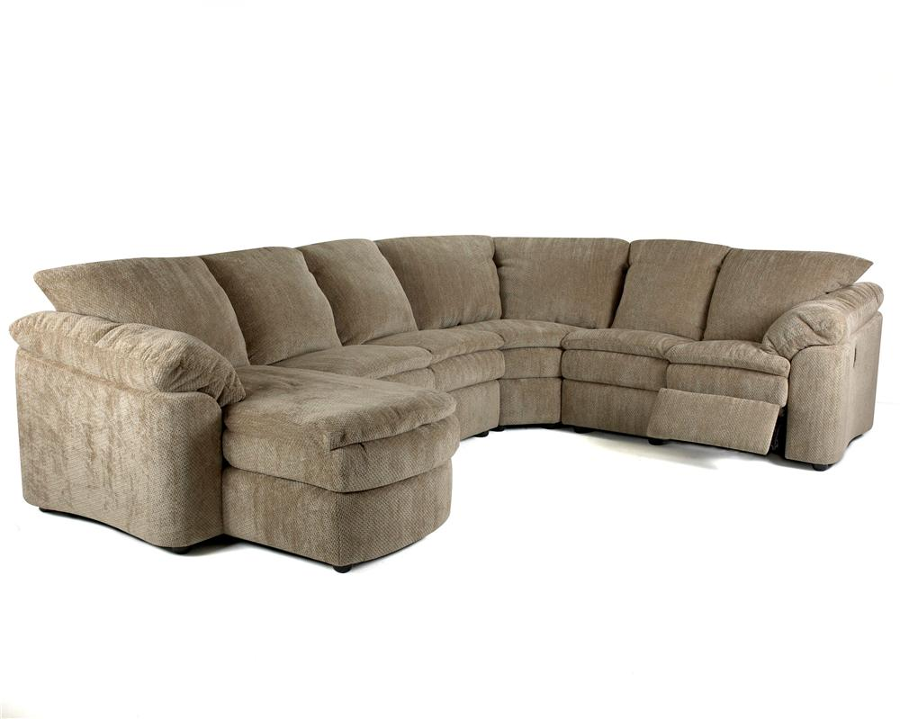 Klaussner Legacy Right Arm Reclining Loveseat And Left Arm Chaise Sectional Miskelly Furniture