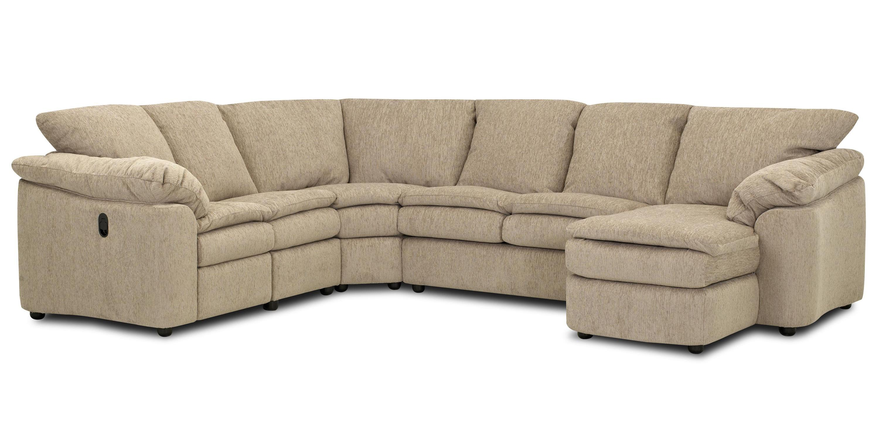 Legacy Dual Reclining Left Arm Loveseat Sleeper And Right Chaise Sectional By Klaussner