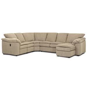 Klaussner Legacy Reclining Sleeper and Chaise Sectional