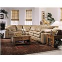 Elliston Place Legacy Left Arm Loveseat and Sleeper Sectional - Item Number: L2700LS+L0490SEW+L02RRRSL