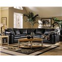 Klaussner Legacy Left Arm Facing Love Seat and Right Arm Facing Sleeper Sectional Sofa