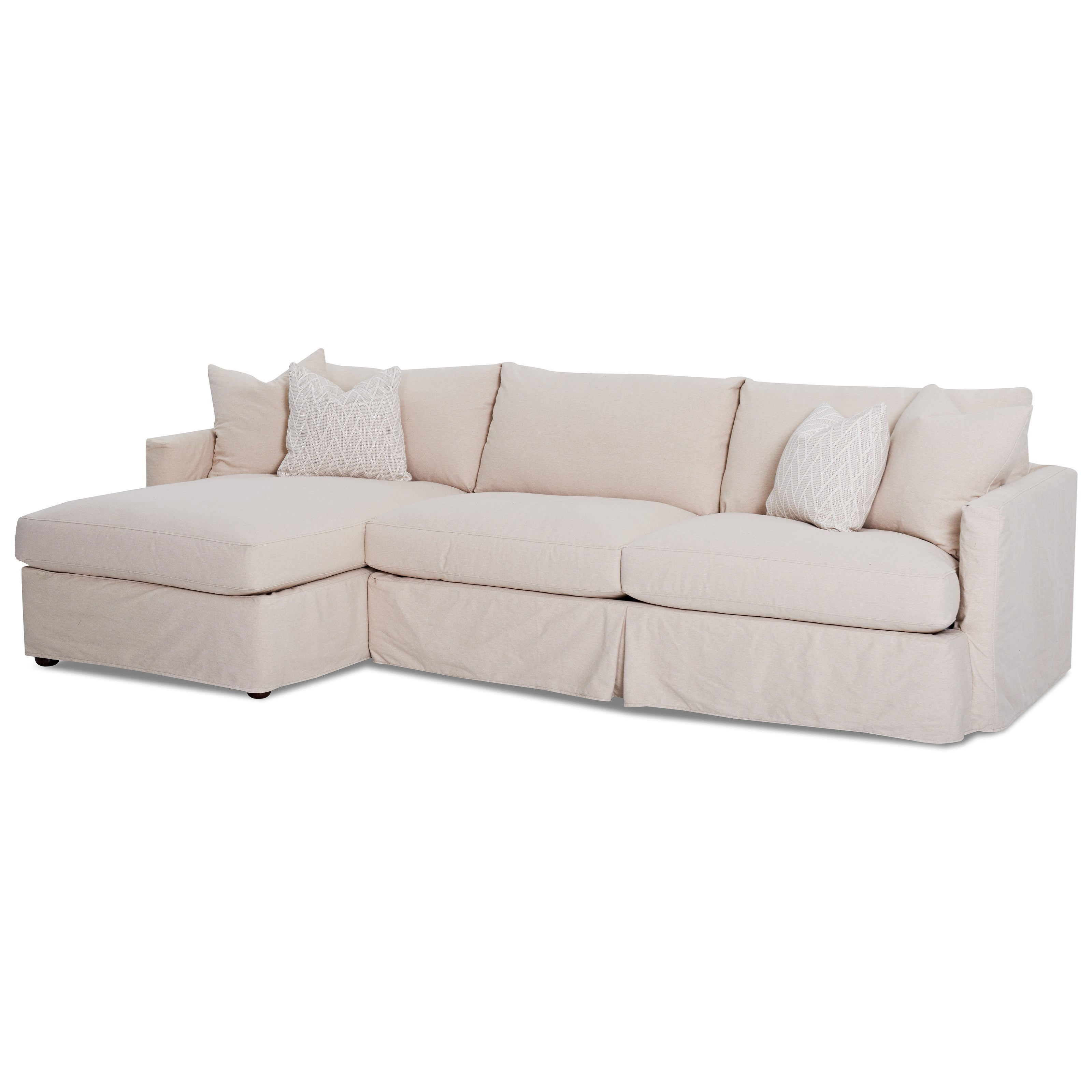 Klaussner Leisure 2 Pc Sectional Sofa with Slipcover - Item Number: D4133 L CHASE+D4133R S