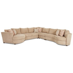 Elliston Place LIA Sectional with Left Arm Facing Cuddler