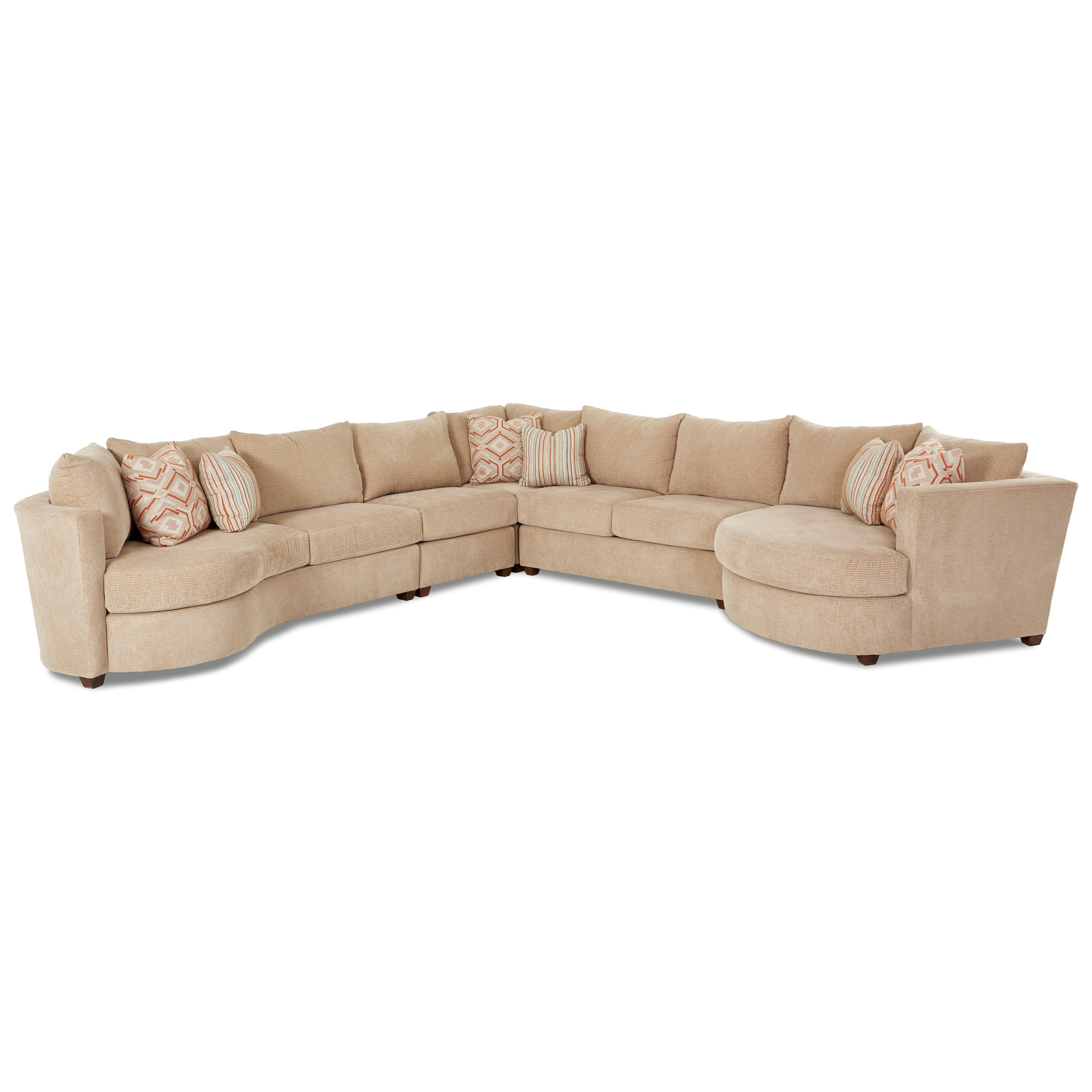 Klaussner LIA Sectional with Right Arm Facing Cuddler - Item Number: K85200L LS+AC+CORN+ALS+R CUDD