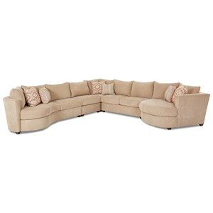 Klaussner LIA Sectional with Right Arm Facing Cuddler
