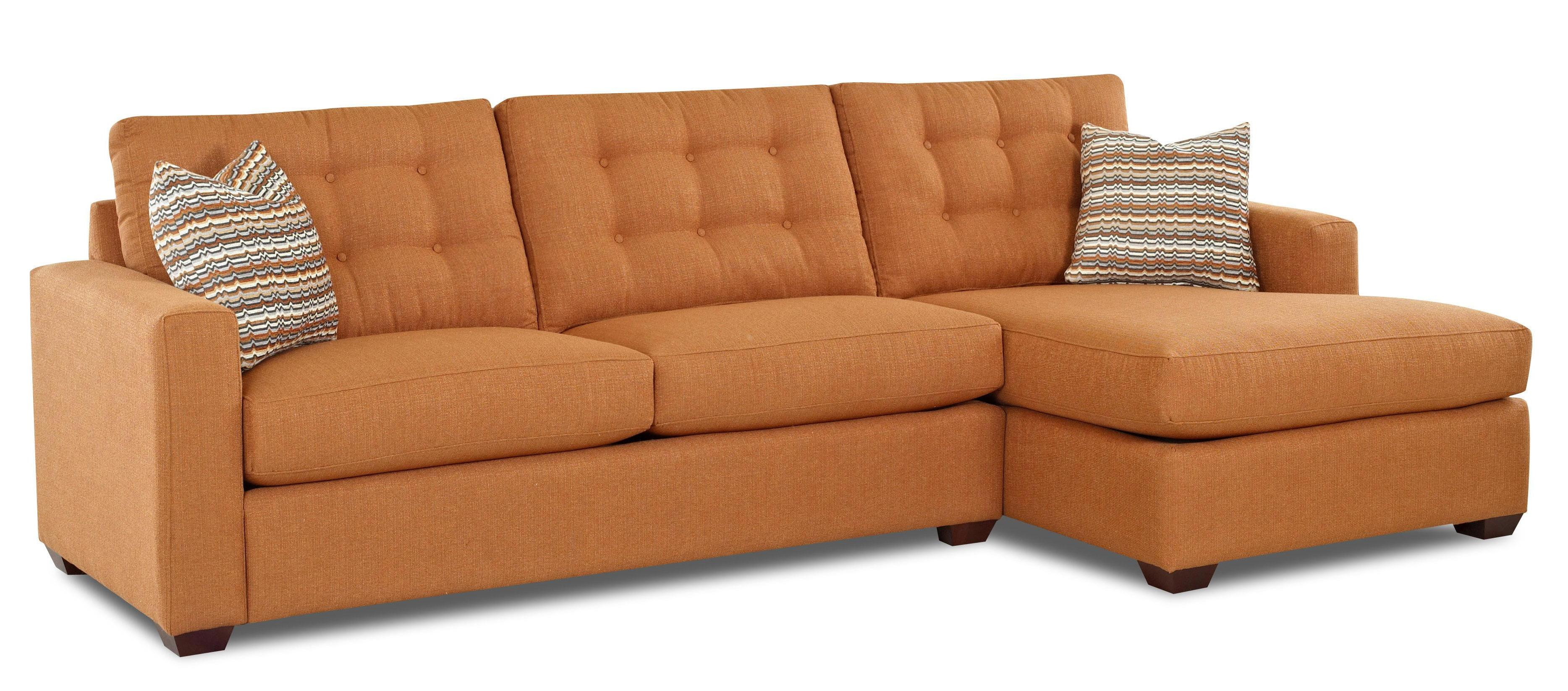 Lido Contemporary Sectional Sofa With Right Facing Chaise Lounge By Klaussner