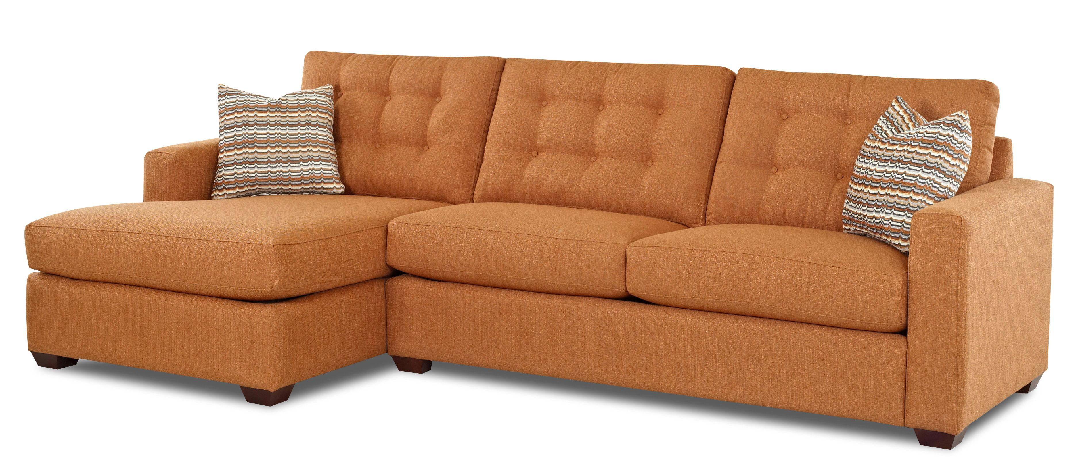 Klaussner Lido Contemporary Sectional Sofa with Left Facing Chaise