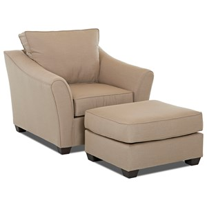 Klaussner Linville Chair & Ottoman Set