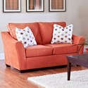 Elliston Place Linville Loveseat - Item Number: K80400 LS-MICROSUEDE PERSIMMON