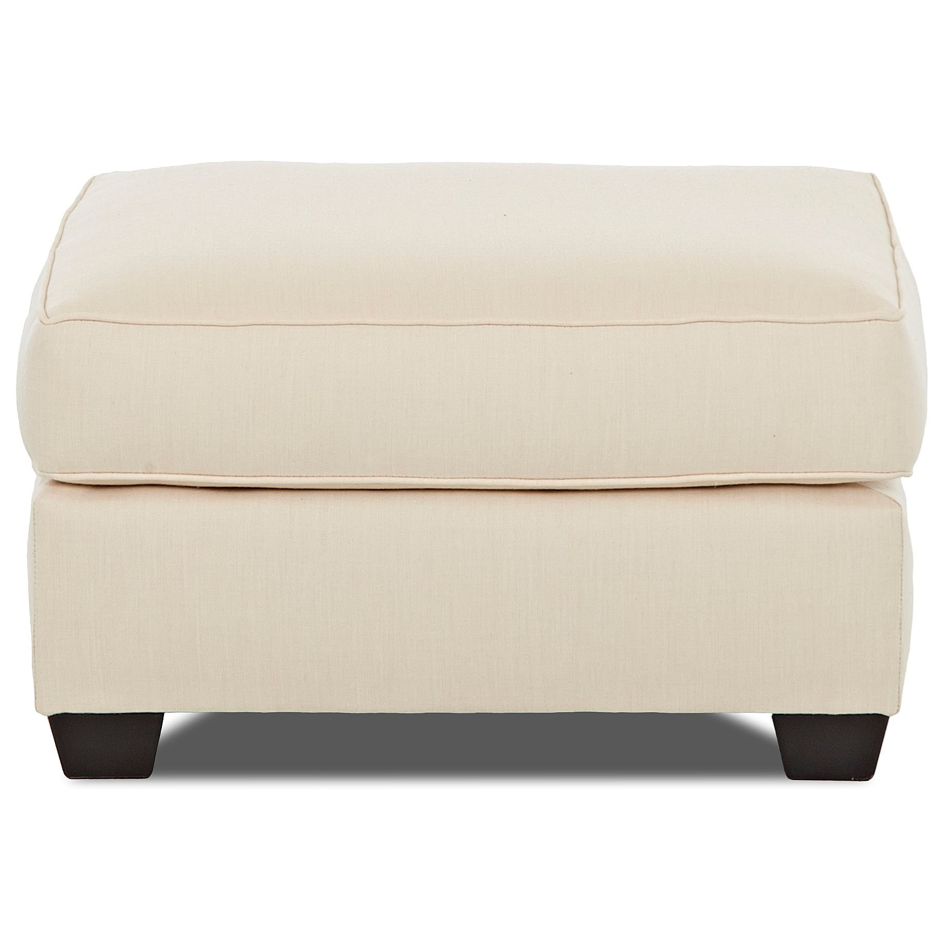Klaussner Linville Ottoman - Item Number: K80400 OTTO-FLAGSHIP VELLUM