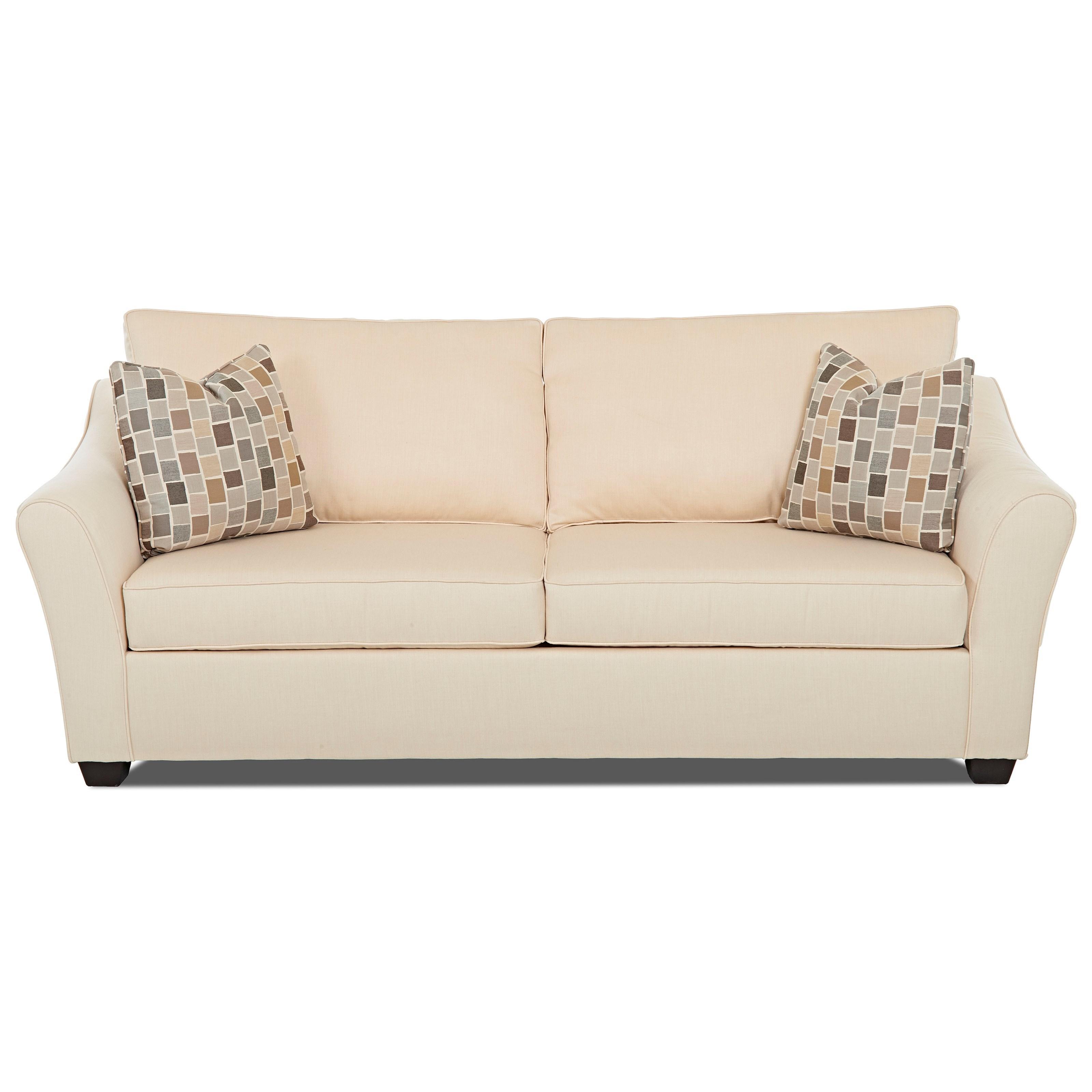 Klaussner Linville Sofa - Item Number: K80400 S-FLAGSHIP VELLUM